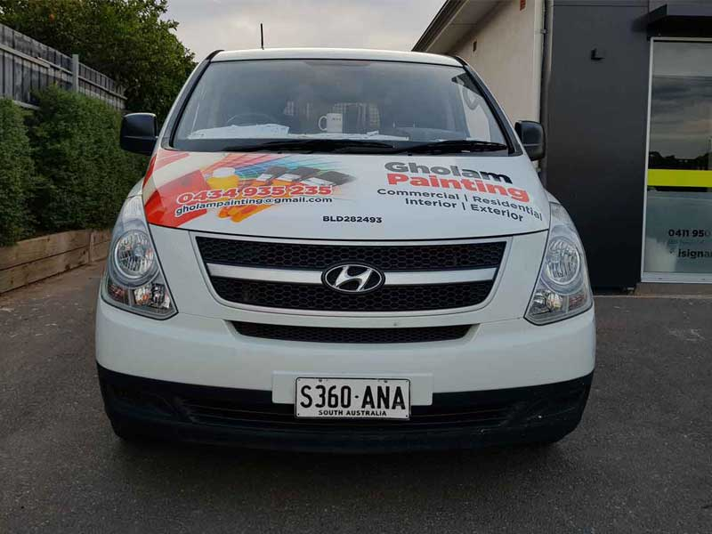 Vehicle wrap for Gholam Painting